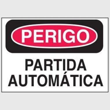 Etiqueta de Perigo - Partida Automática