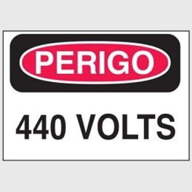 Etiqueta de Perigo - 440 Volts