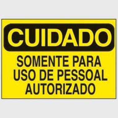 Etiqueta de Cuidado - Somente Para Uso de Pessoal Autorizado