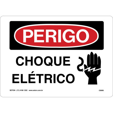Placa de choque elétrico