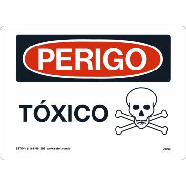 Placa De Perigo - Tóxico