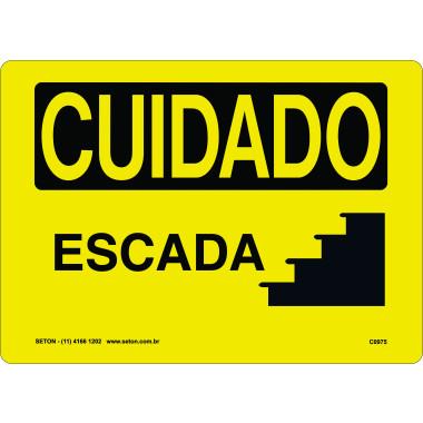 Placa cuidado escada