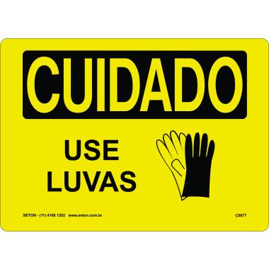 Placa de Cuidado | Use Luvas