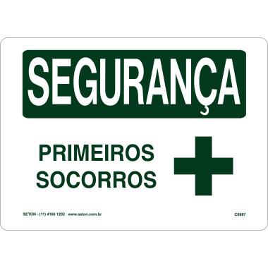Placa de Sinalização de Segurança | Primeiros Socorros