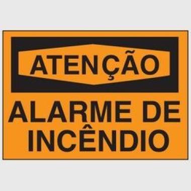 Etiqueta de Atenção - Alarme de Incêndio