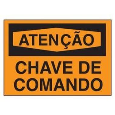 Etiqueta de Atenção - Chave de Comando