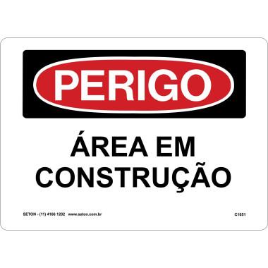 Placa de Sinalização de Perigo | Área em Construção