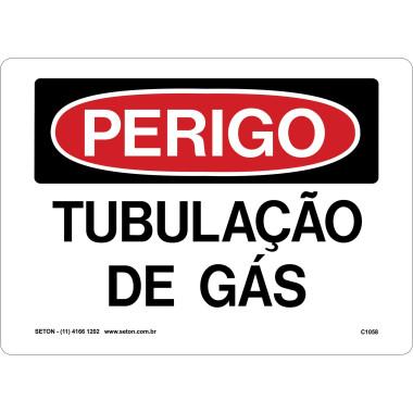 Placa tubulação de gás