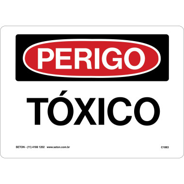 Placa de Sinalização de Perigo | Tóxico