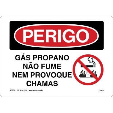 Placa gás propano não fume nem provoque chamas