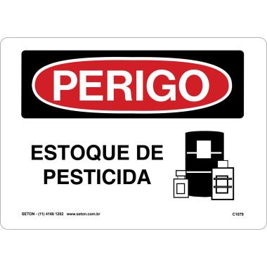 Placa estoque de pesticida
