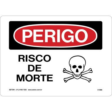Placa De Perigo - Risco De Morte