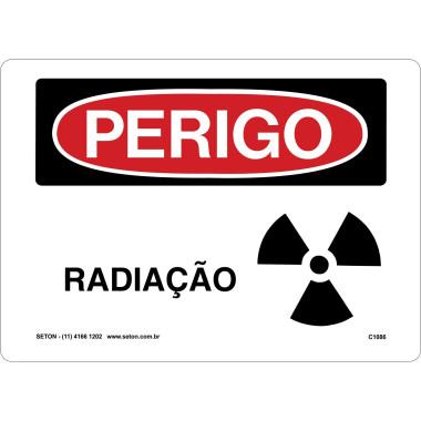 Placa de Sinalização de Perigo | Radiação