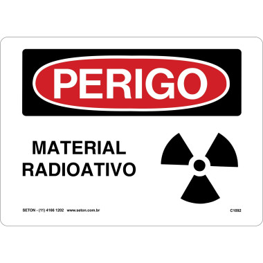 Placa material radioativo