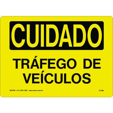 Placa de Cuidado | Tráfego de Veículos