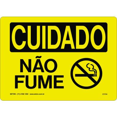 Placa de Cuidado | Não Fume