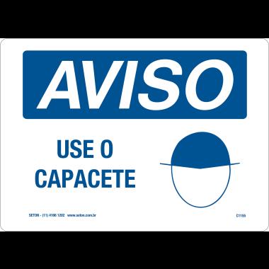 Placa de Aviso | Use o Capacete