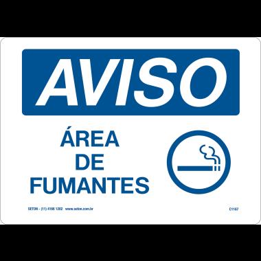 Placa de Aviso | Área de Fumantes