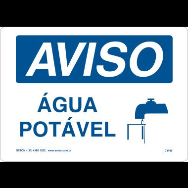 Placa de Aviso | Água Potável