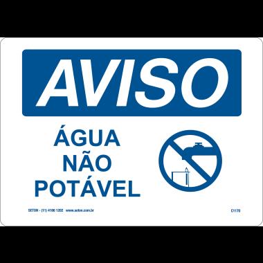 Placa de Aviso | Água Não Potável