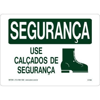 Placa De Segurança - Use Calçados De Segurança