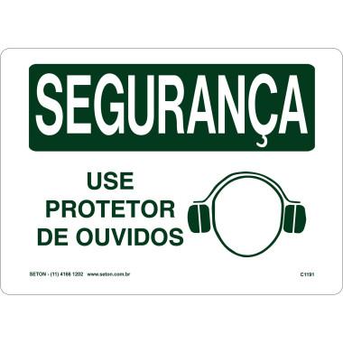 Placa De Segurança - Use Protetor De Ouvidos