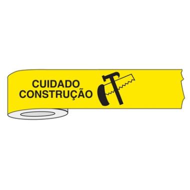 Fita Impressa para Isolamento de Área - Cuidado Construção
