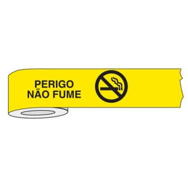 Fita para isolamento de área perigo não fume