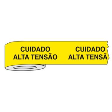 Fita para Isolamento de Área com Impressão | Cuidado Alta Tensão