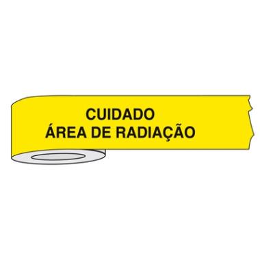 Fita para Isolamento de Área com Impressão | Cuidado Área de Radiação