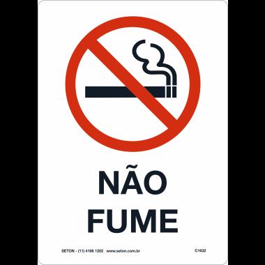 Placa de Não Fume | Não Fume