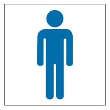 Pictograma - Símbolo Masculino - Azul