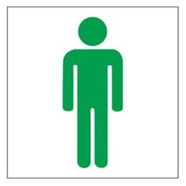 Placa Banheiro Masculino Pictograma Verde