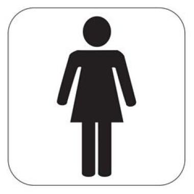 Pictograma - Símbolo Feminino - Preto