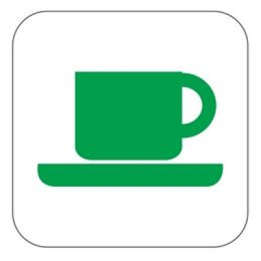 Pictograma - Símbolo Xícara - Verde
