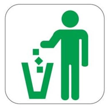 Pictograma - Símbolo Lixo - Verde