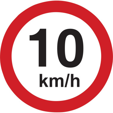Placa 10km/h