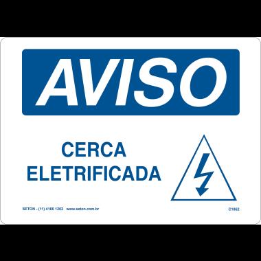 Placa de Aviso | Cerca Eletrificada