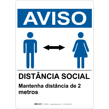 Placa Distância Social