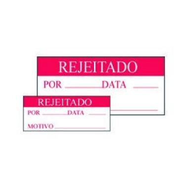 Etiqueta Laminada de Controle para Escrita - Rejeitado