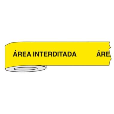 Fita para Isolamento de Área com Impressão | Área Interditada