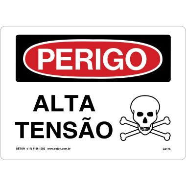 Placa De Perigo - Alta Tensão