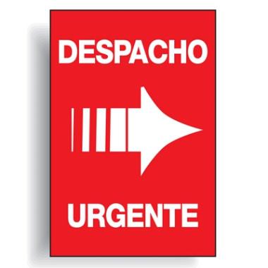 Etiqueta despacho urgente