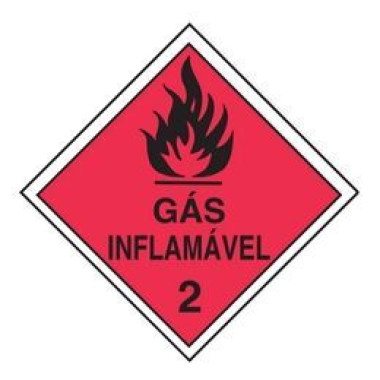 Etiqueta de Simbologia de Risco - Gás Inflamável 2