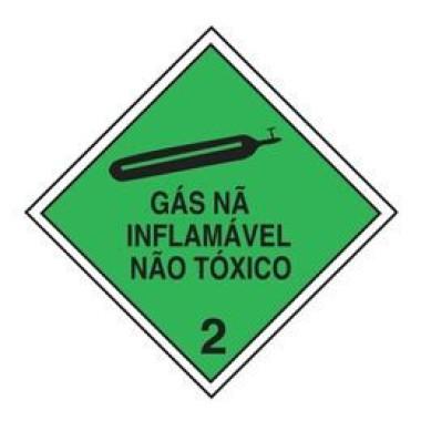 Etiqueta de Simbologia de Risco - Gás Não Inflamável Não Tóxico 2
