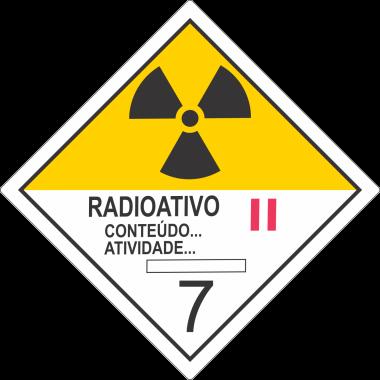 Rolo de Etiquetas de Simbologia de Risco - Radioativo II
