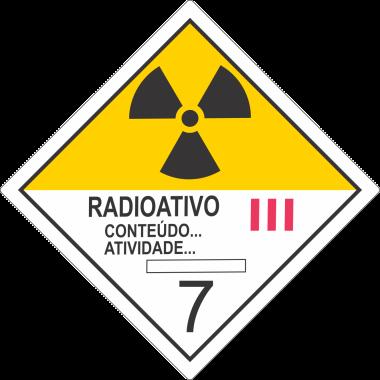 Rolo de Etiquetas de Simbologia de Risco - Radioativo III