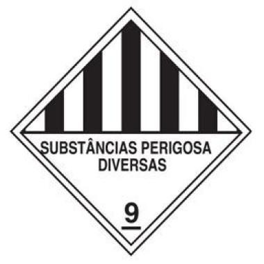 Rolo de etiquetas substâncias perigosas diversas 9