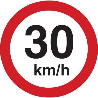 Placa de Sinalização de Trânsito | 30km/h