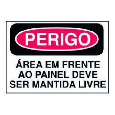Etiqueta de Perigo - Área em Frente ao Painel Deve Ser Mantida Livre
